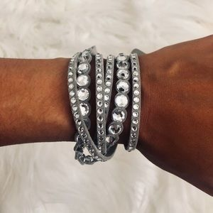 Swarovski Slake Leather Wrap Bracelet